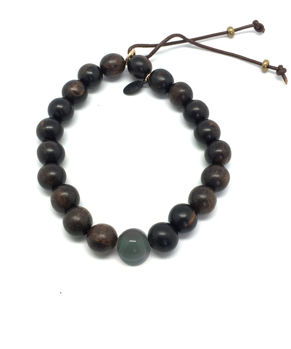 Stardust ebony and agate bracelet - Catherine Michiels