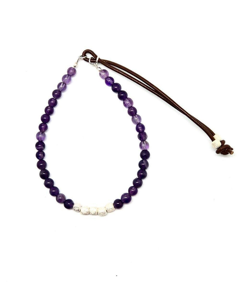 Catherine Michiels Bracelet Amethyst and cubes of silver 2 Stardust creator