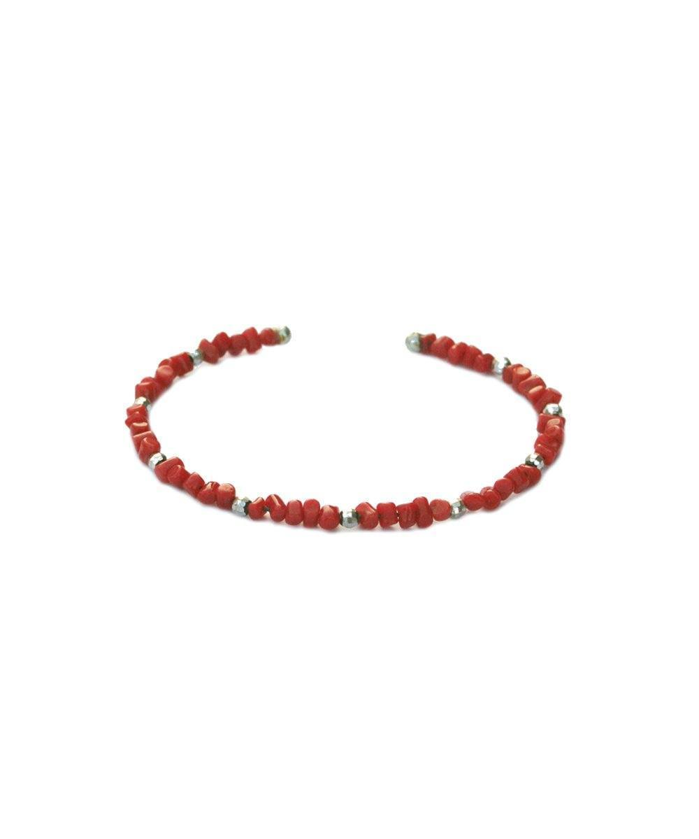editions-lessisrare-jewelry-bracelet-bangle-in-coral-and-silver Editions LESSisRARE Jewels