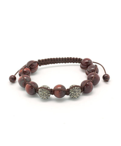 editions-lessisrare-jewelry-bracelet-shamballa-tiger-eye-red-and-rhinestone Editions LESSisRARE Jewels