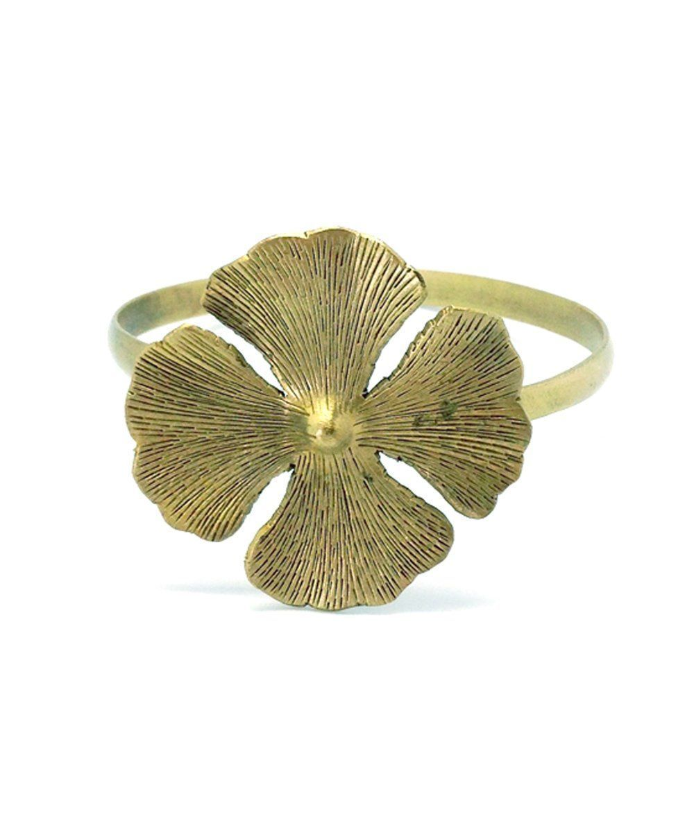 bracelet-flower-clover-gold Editions LESSisRARE Jewels
