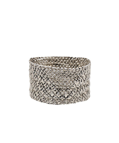 bracelet-mesh-silver-flexible Editions LESSisRARE Jewels