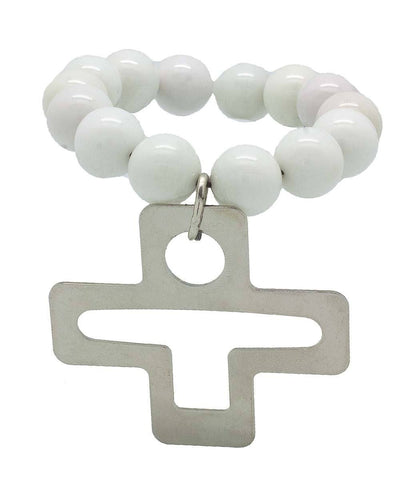large-bracelet-pearls-white-cross-metal-Editions LESSisRARE Jewelry