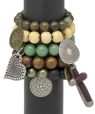 editions-lessisrare-jewelry-bracelet-lhassa-en-onyx-black-mat-pyrites-of-iron-and-charm Editions LESSisRARE Jewelry 1