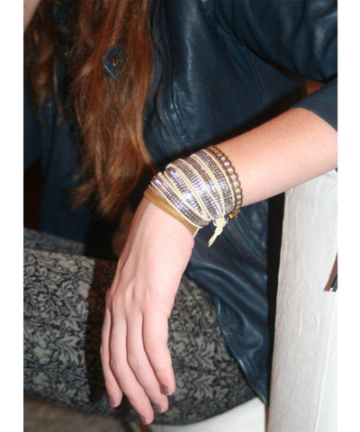 Bracelet Serpentine Embroidery Editions LESSisRARE Jewelry worn 2
