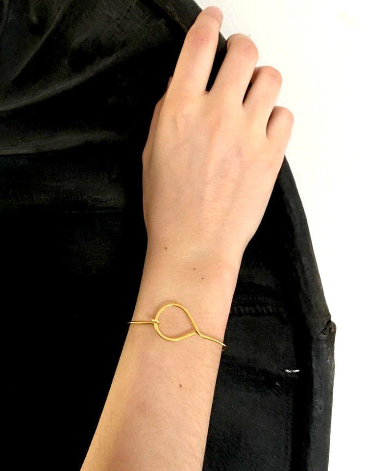 Gold bracelet with fine gold Petit Cercle - Eloïse Fiorentino