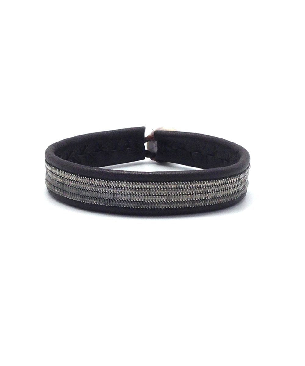Black B67 Line Bracelet by Hanna Wallmark