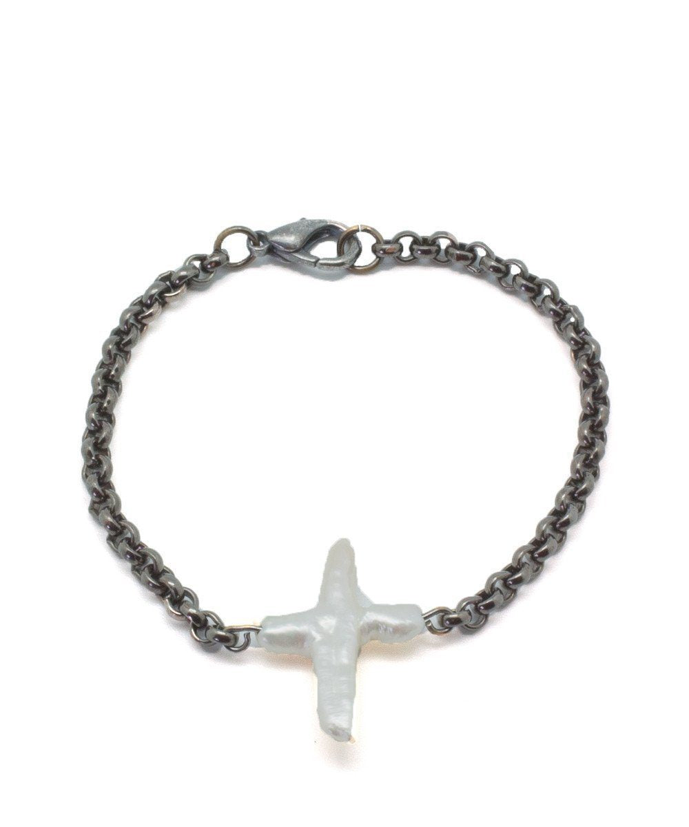 wrist cross-pearl-and-metal-gun