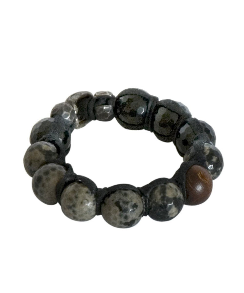 Cobra and wood agate balls bracelet - Vanessa Dee