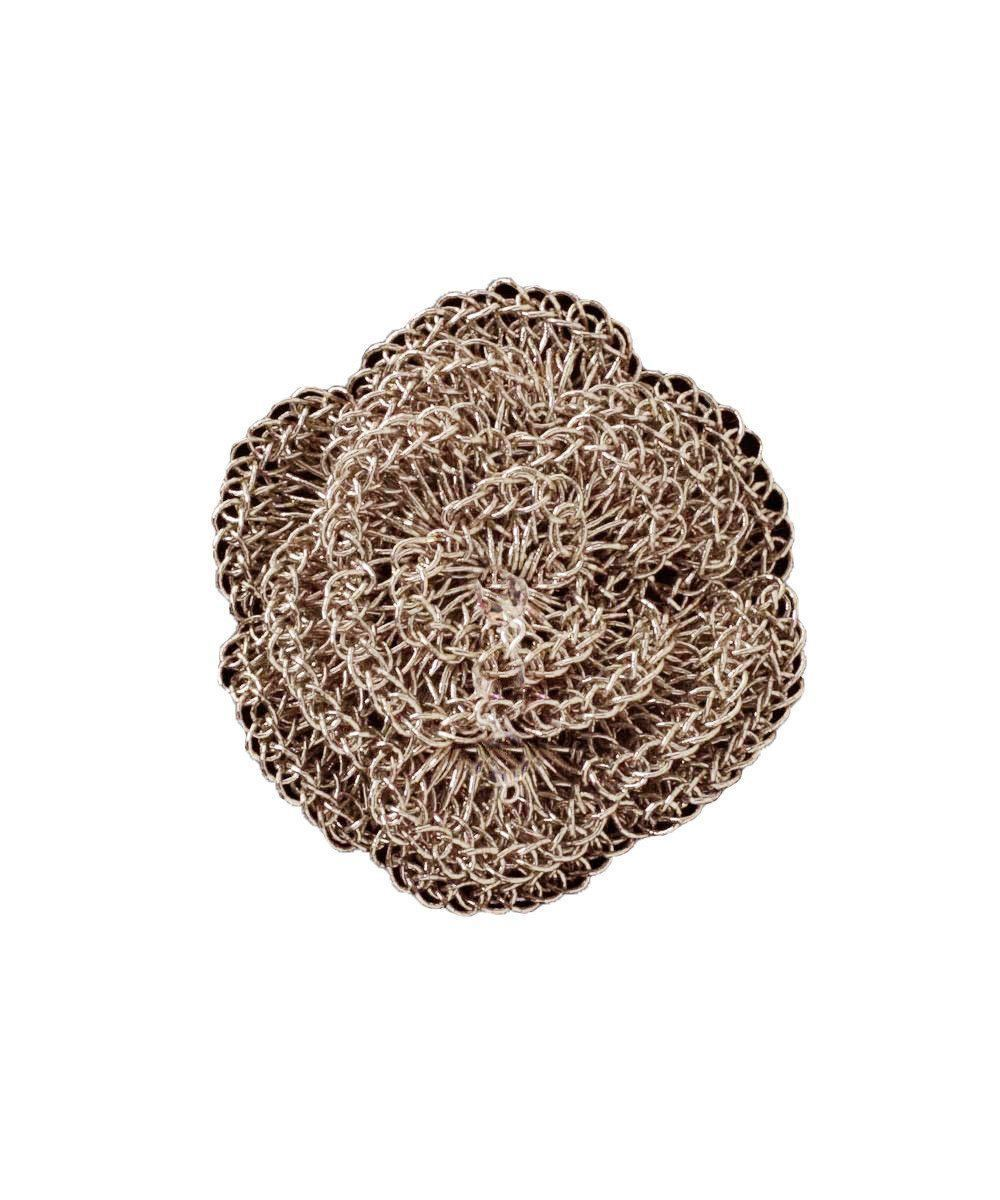 Broche Fleur crochetée - Rose - Betty Gabrielle