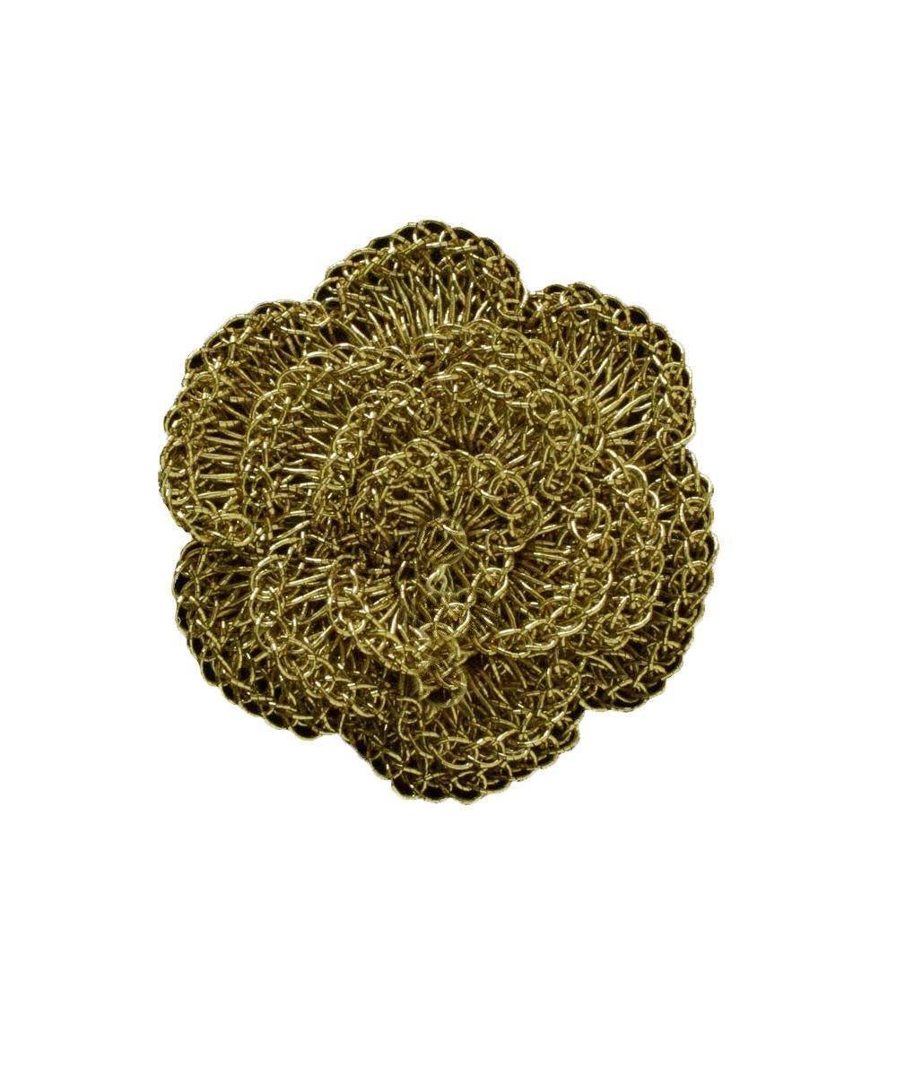 Broche Fleur crochetée - Doré - Betty Gabrielle