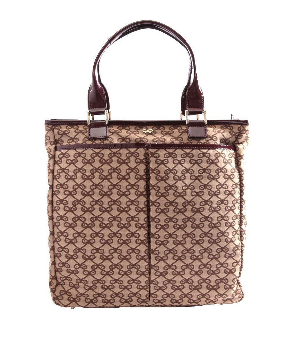 Nevis tote bag in brown logo canvas - Anya Hindmarch