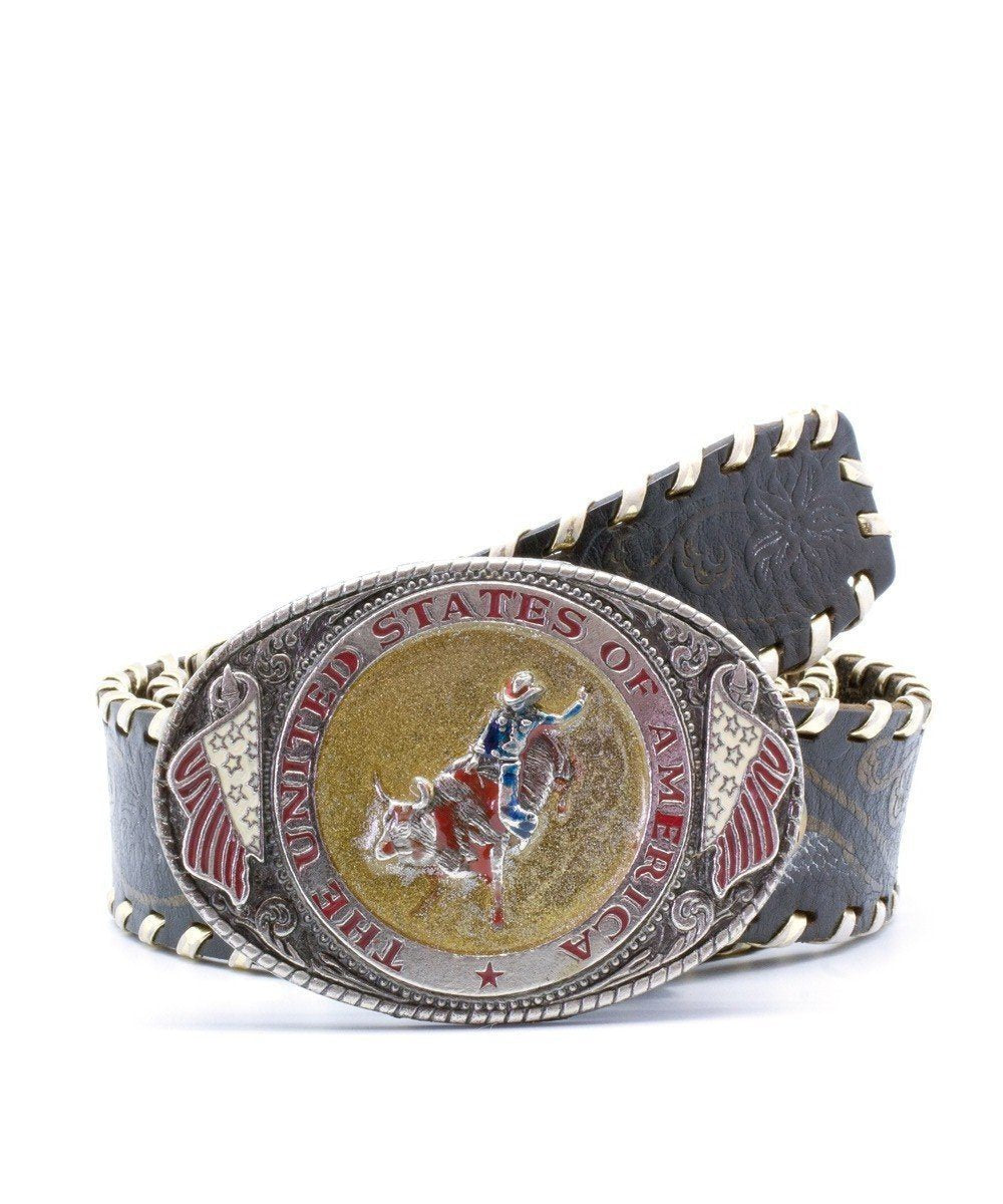 belt-woman-leather-western-cowboy Editions LESSisRARE