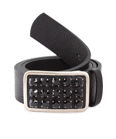 Ronald Pineau-belt-black-leather-and-Swarovski-crystals