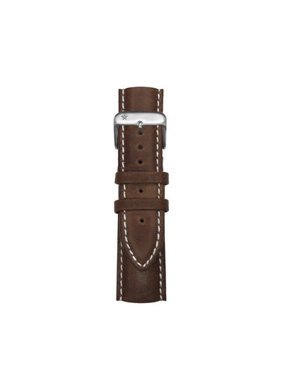 Classic interchangeable stitched leather bracelet 22mm - oxygen watch
