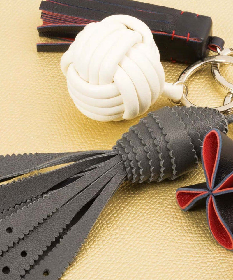 Leather Knot Keychain - Bhome