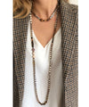 collar necklace-tiger-eye-beads-water soft-focused