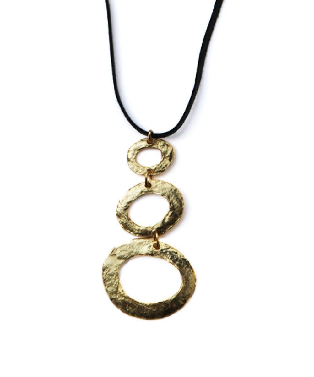 Necklace pendant 3 golden wishes - Carole Saint Germes
