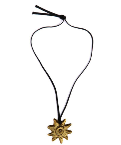 carole-saint-germes-necklace-sun-gold-martele 1