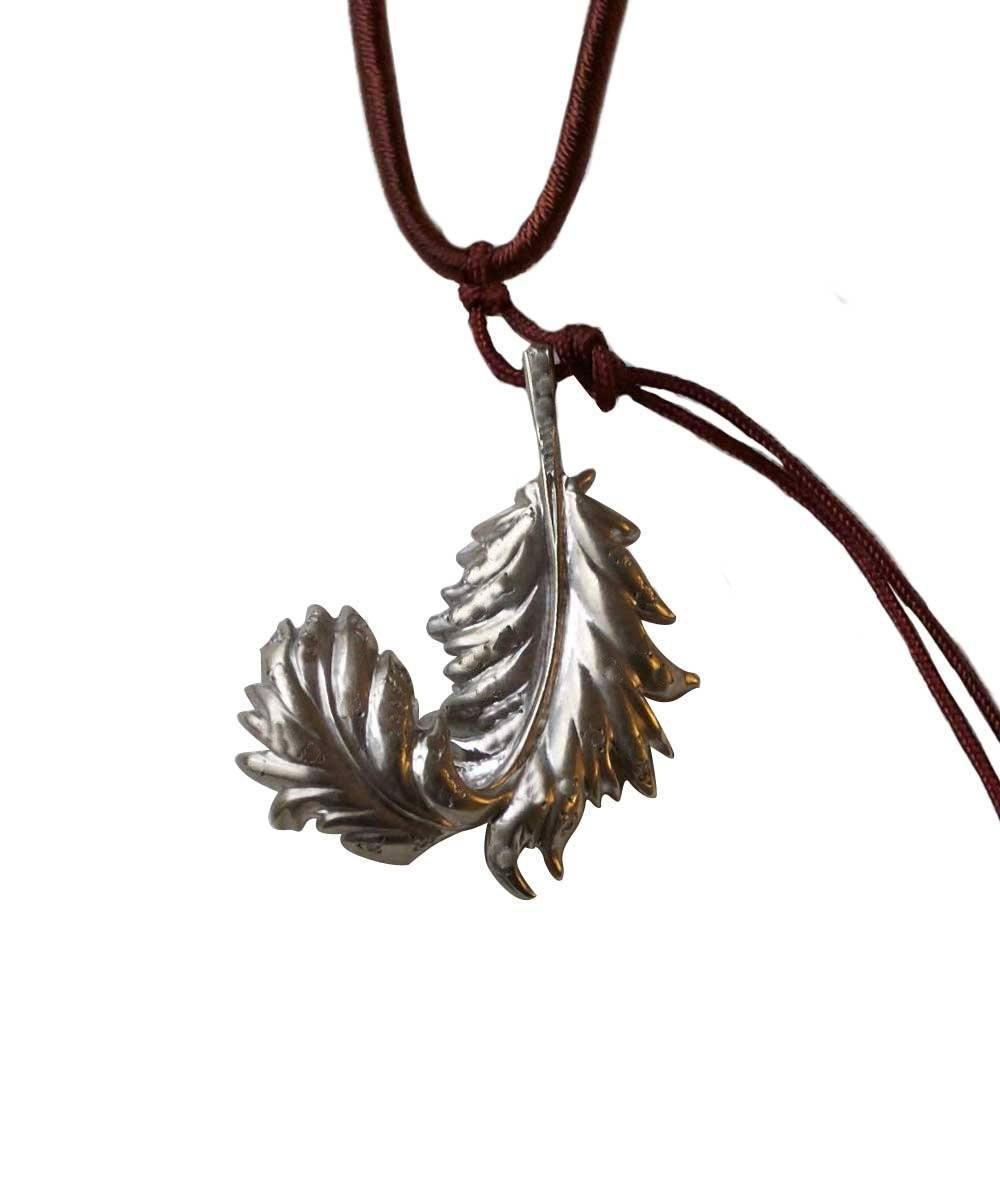 Spogliati silver feather pendant - Catherine Michiels