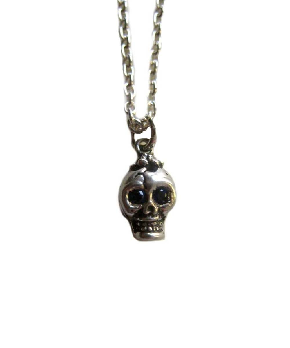 Skull pendant The very small silver bob with black diamonds - Catherine Michiels