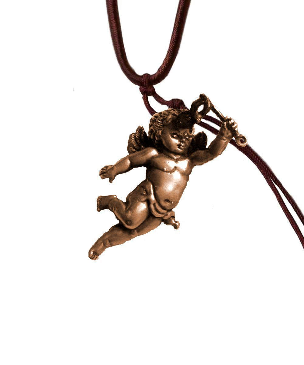 Putti pendant in bronze and diamond - Catherine Michiels