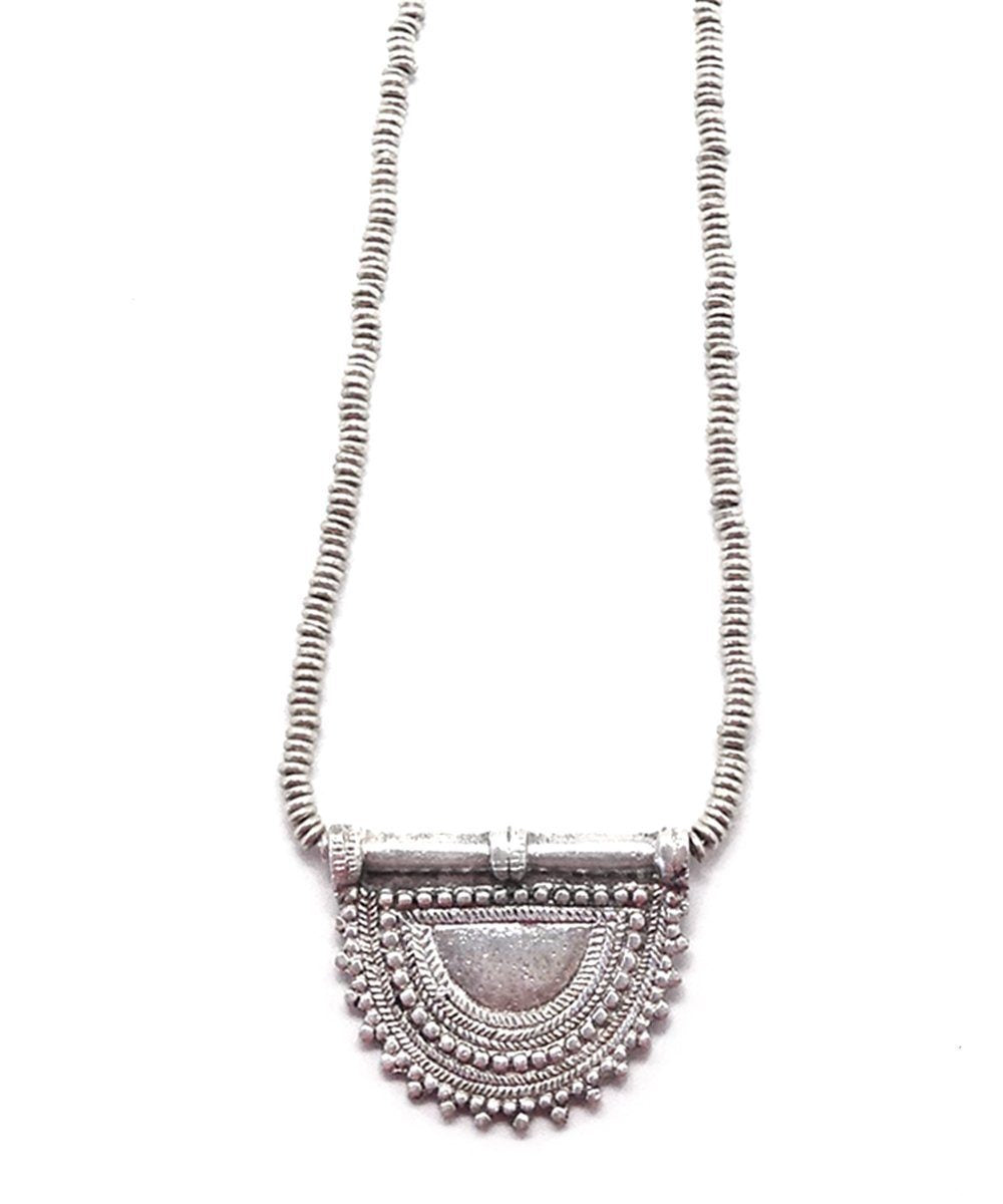 necklace-pendant-sautoir-metal-silver Editions LESSisRARE Jewels