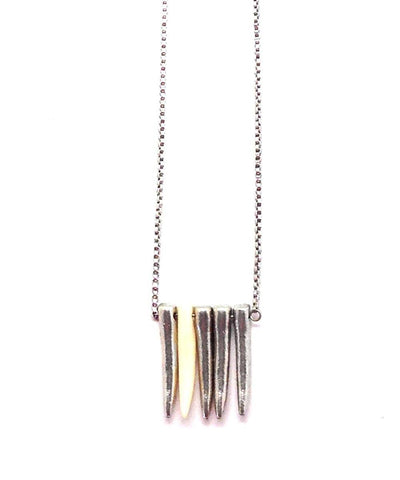 necklace-rock-gray-metal Editions LESSisRARE Jewels