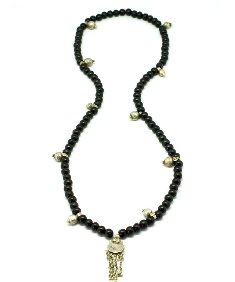 Mala long necklace in black wood - Jewels of Mala