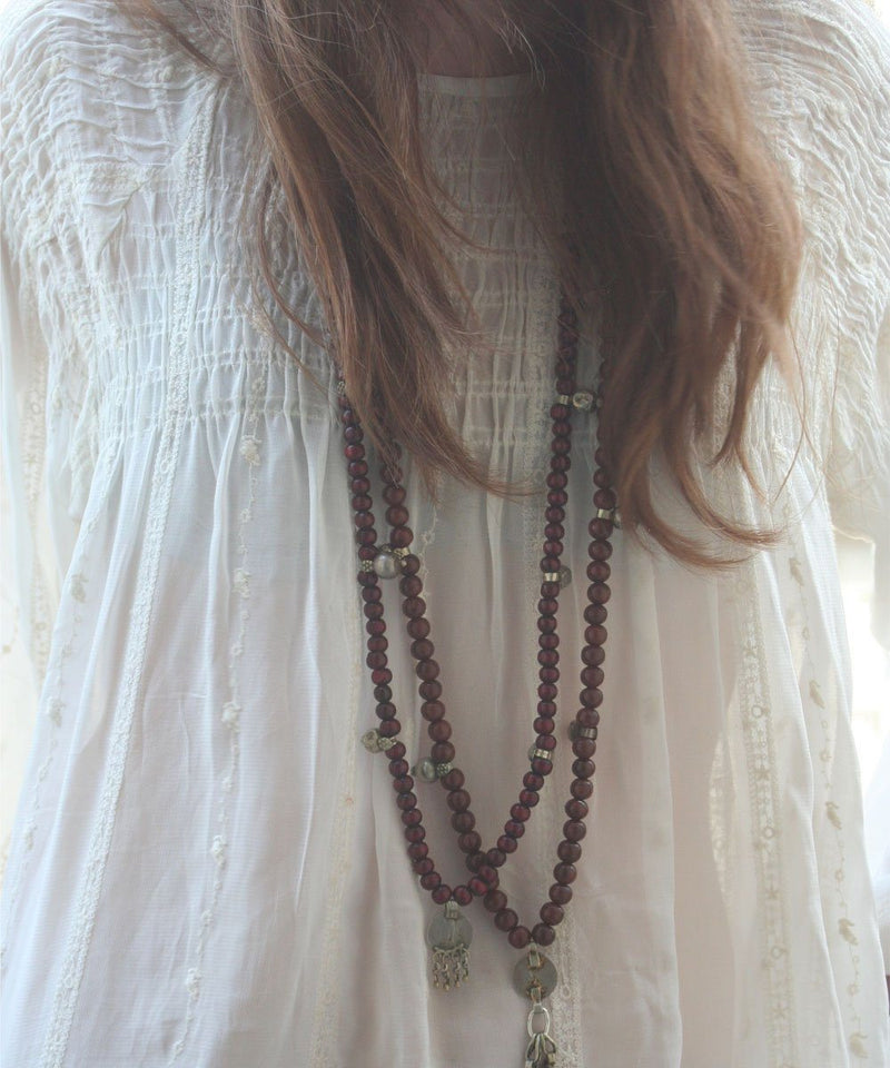 Wooden mala long necklace - Jewels of Mala
