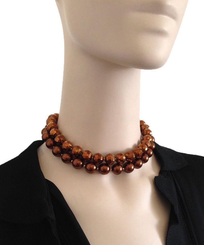 flotb-collar-ras-de-cou-pearls-brown FlotB