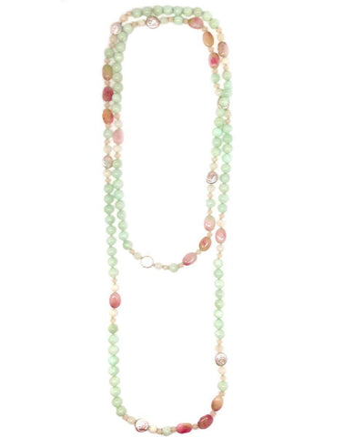 collar necklace pearls quartz-green-and-pink-pearl-pearls