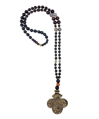 jewels-of-mala-collar long-wood-cross-dore