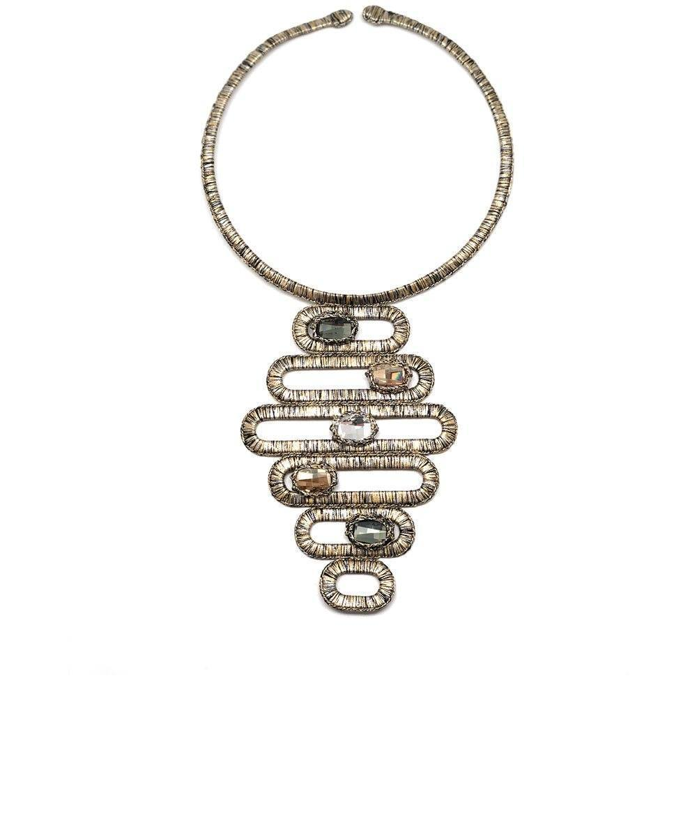 Manhattan Small Bib Necklace - Boks & baum