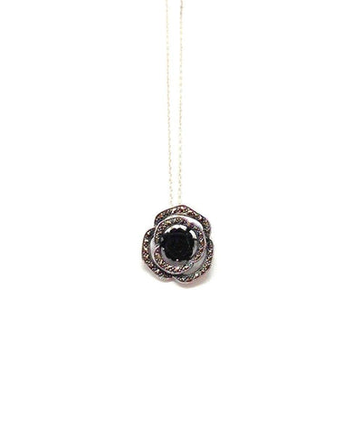 Metron-pendant-in-pink onyx-and-silver marcasite
