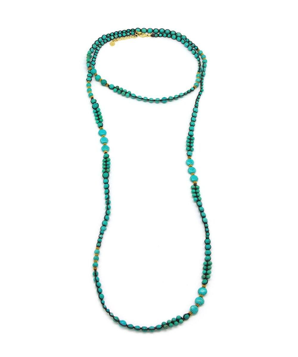 Turquoise beads long necklace - Nakamol