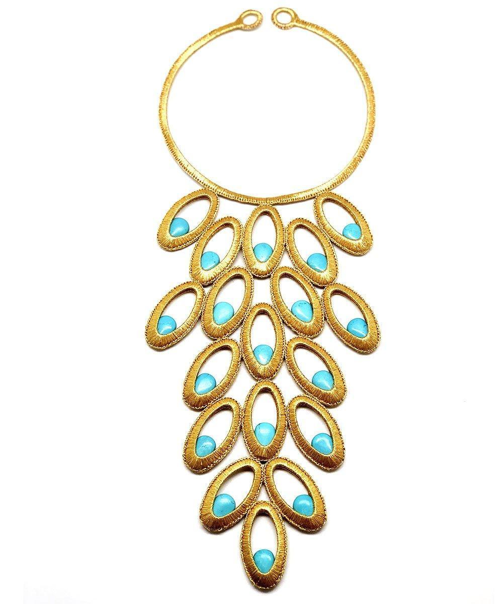 Peacock plastron necklace - Boks & baum