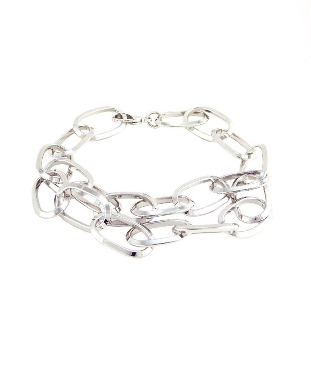 Silver choker necklace WAY CHOKER - Isabelle Michel