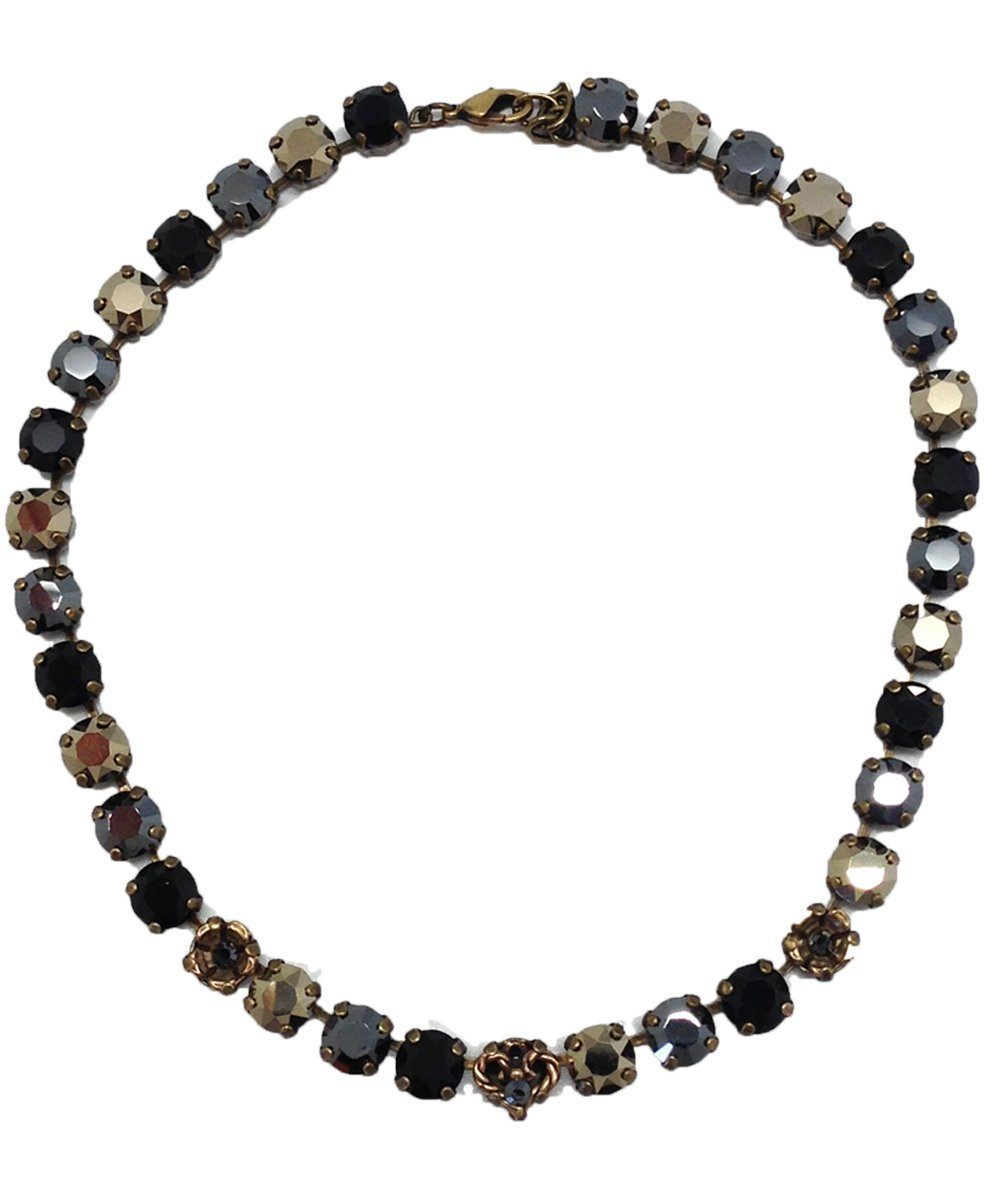 Black Swarovski Crystals Necklace - Vogline