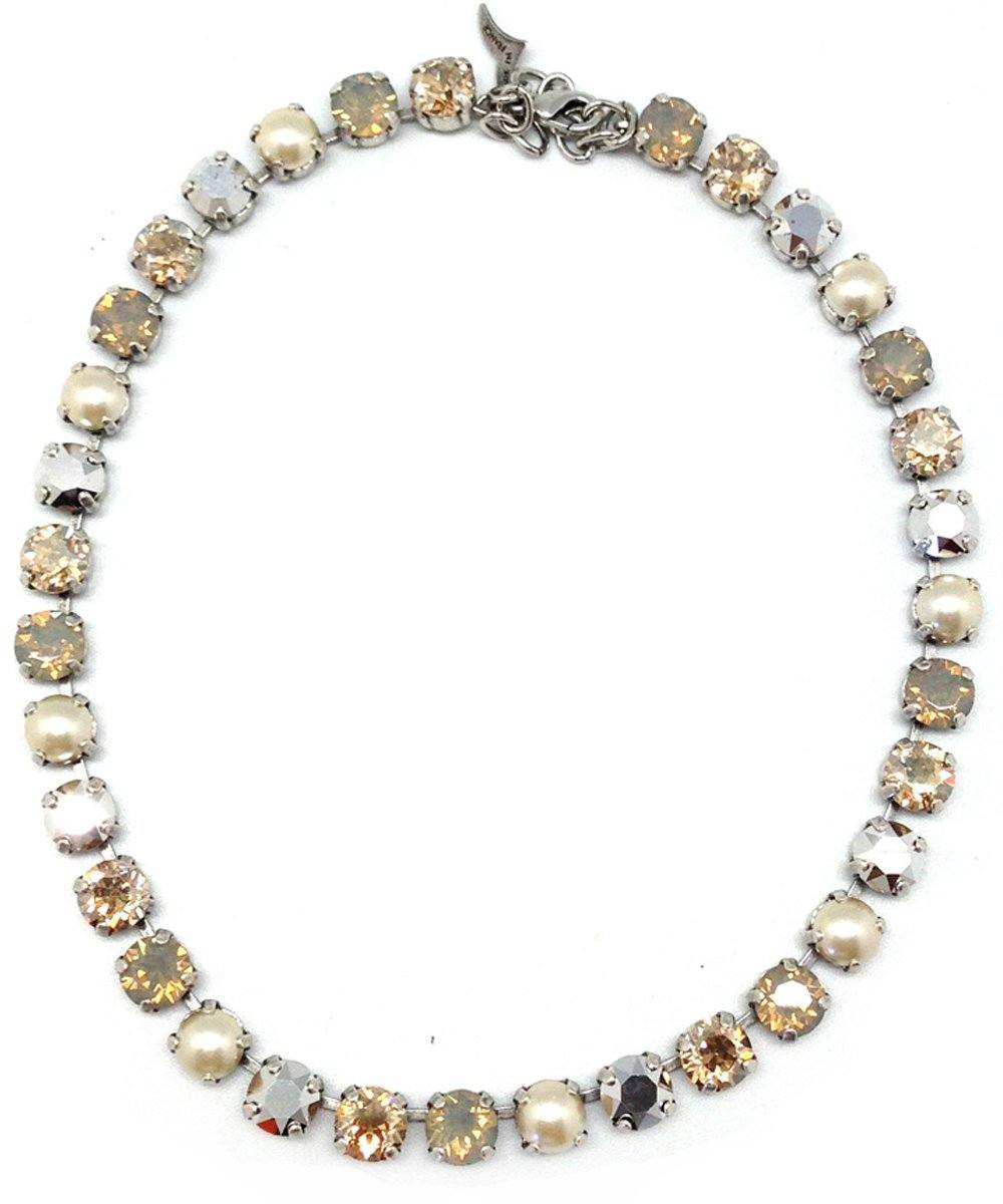 vogline-collar Swarovski crystal-and-pearl-cream