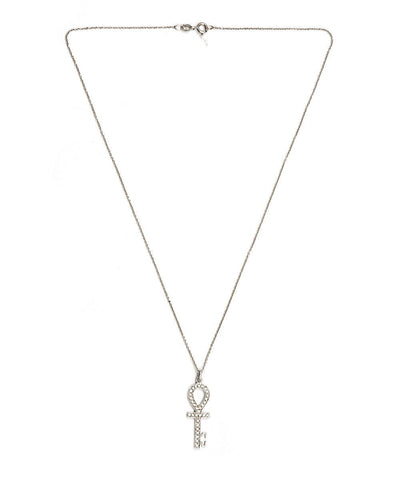 bernard-delettrez-gold-and-diamonds-cross-ankh-neck-necklace 1