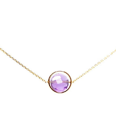amethyst necklace my little by Paola zovar