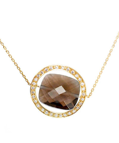 collier quartz-fume paola zovar grand regard diamants