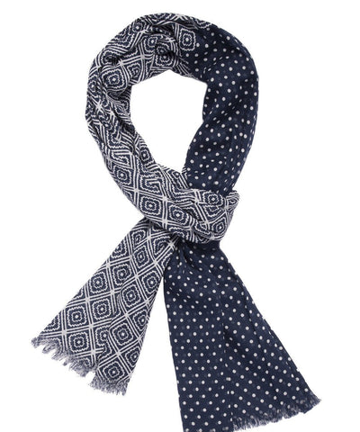 Scarf-pattern-blue-for-man Editions LESSisRARE