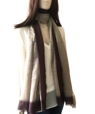 scarf-tie-and-dye-beige Editions LESSisRARE worn