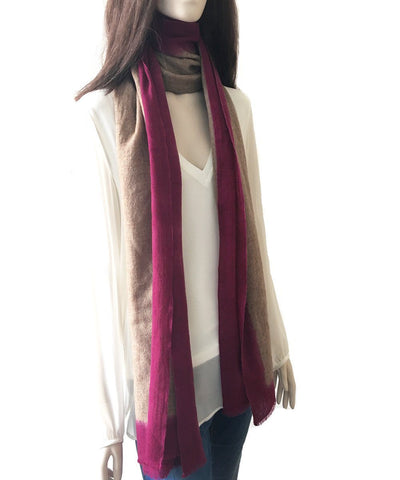 scarf-tie-and-dye-beige-pink-for-men-and-women Editions LESSisRARE worn