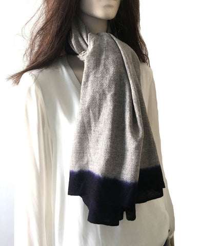 scarf-cashmere-gray-range Editions LESSisRARE 1