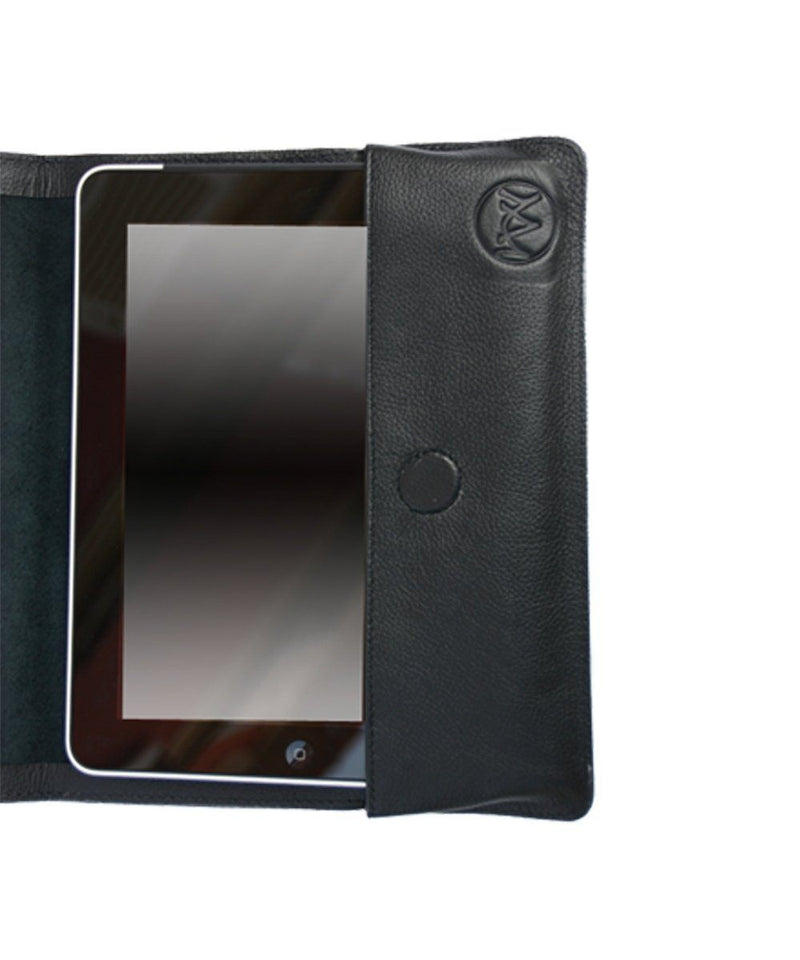 Black grained leather Ipad case - Editions LESSisRARE