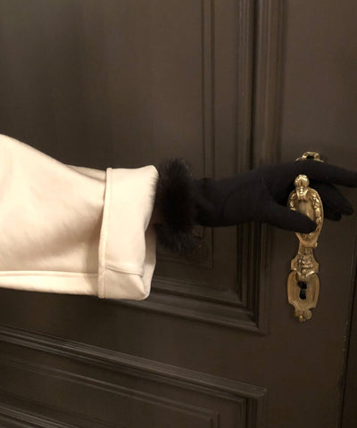gloves-fur-mink-brown-worn Editions LESSisRARE