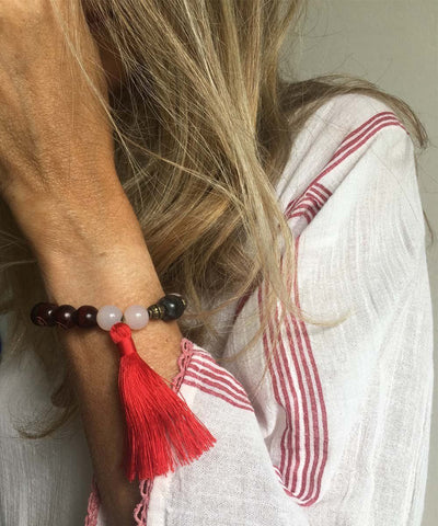 jewels-of-mala-bracelet-mala-tibetain-agate-rose-et-pompon